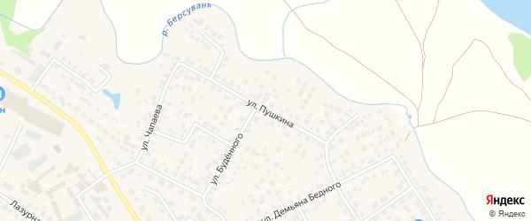 Улица Пушкина на карте села Чесноковки с номерами домов