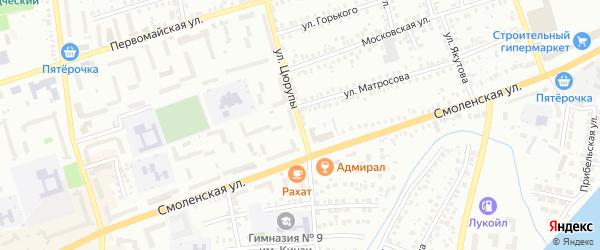 Улица Цюрупы на карте Мелеуза с номерами домов