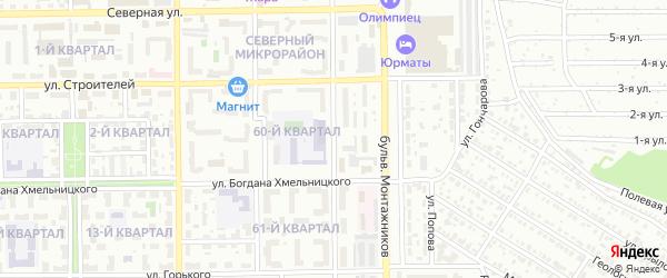 Речная улица на карте Салавата с номерами домов