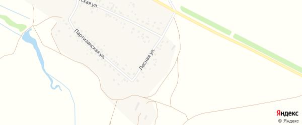 Лесная улица на карте деревни Старомусино с номерами домов