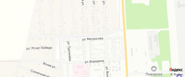 Улица Александра Матросова на карте Стерлитамака с номерами домов
