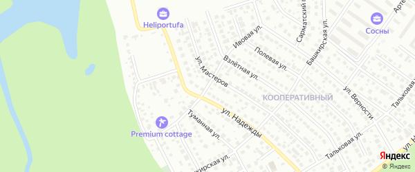 Ивовая улица на карте Уфы с номерами домов