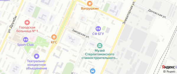Заводская улица на карте Стерлитамака с номерами домов
