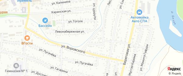 Правонабережная улица на карте Мелеуза с номерами домов