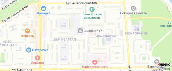 Улица 30 лет Победы на карте Салавата с номерами домов