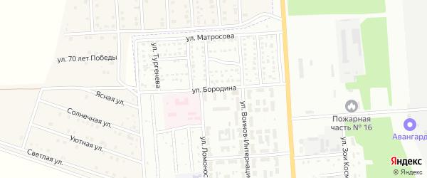 Улица Бородина на карте Стерлитамака с номерами домов
