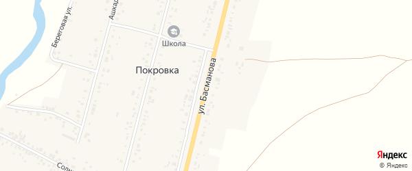 Улица Басманова на карте деревни Покровки с номерами домов