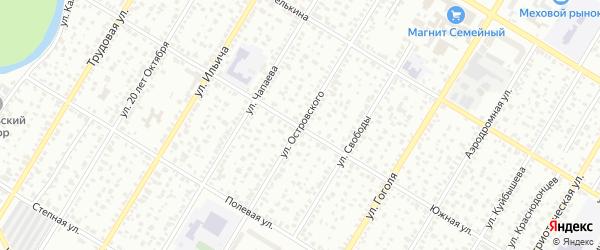 Улица Островского на карте Стерлитамака с номерами домов