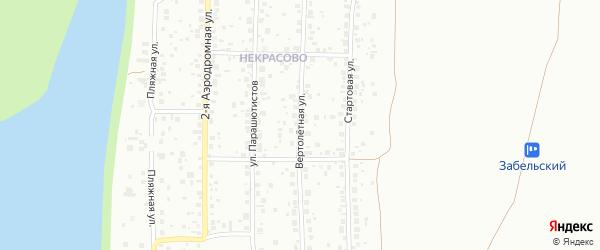 Вертолетная улица на карте Ленинского района с номерами домов