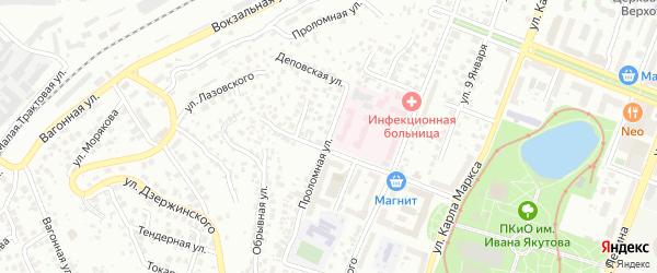 Проломная улица на карте Уфы с номерами домов