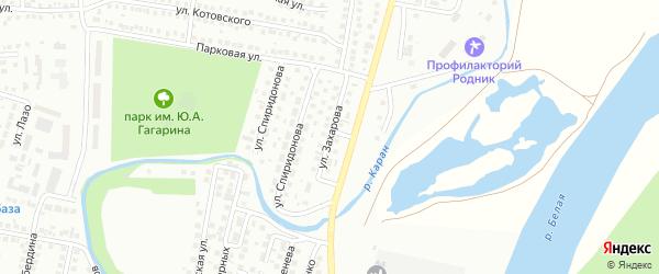 Улица Захарова на карте Мелеуза с номерами домов