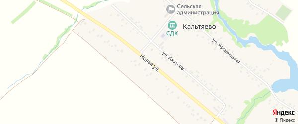 Новая улица на карте села Кальтяево с номерами домов