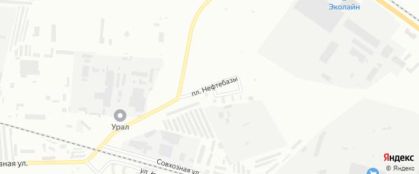 Площадь Нефтебазы на карте Мелеуза с номерами домов