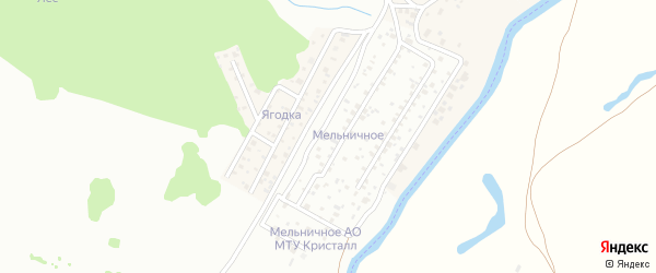 Мельничная улица на карте поселка Камышлинского мелькомбината с номерами домов
