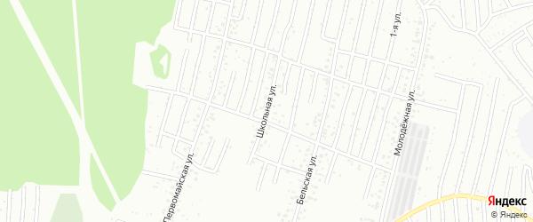 Школьная улица на карте Салавата с номерами домов