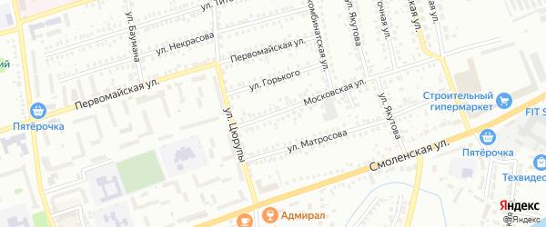 Московская улица на карте Мелеуза с номерами домов