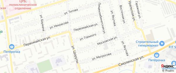 Улица Горького на карте Мелеуза с номерами домов