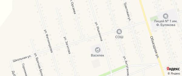 Школьная улица на карте села Мишкино с номерами домов