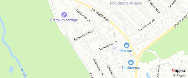 Башкирский переулок на карте Уфы с номерами домов
