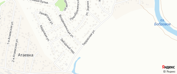 Террасная улица на карте Уфы с номерами домов