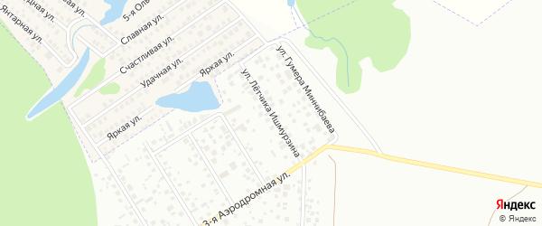 Улица Летчика Ишмурзина на карте Уфы с номерами домов