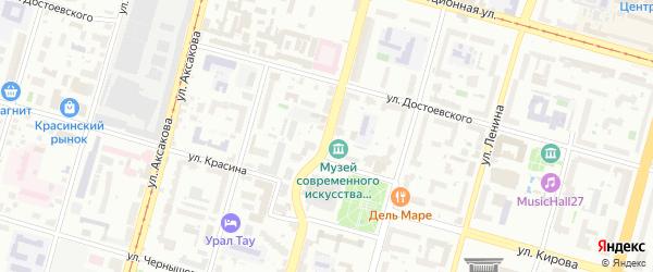 Улица Карла Либкнехта на карте Уфы с номерами домов