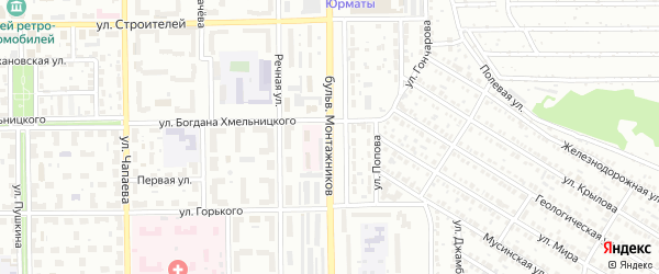 Бульвар Монтажников на карте Салавата с номерами домов