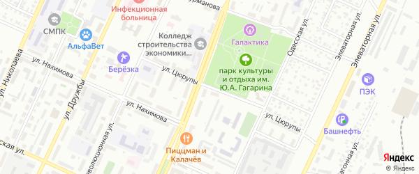 Улица Цюрупы на карте Стерлитамака с номерами домов
