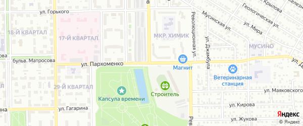 Улица Пархоменко на карте Салавата с номерами домов