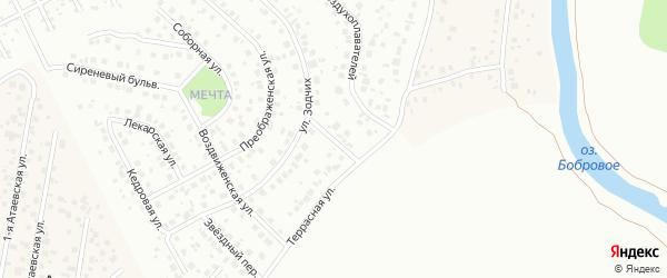 Забытный переулок на карте Уфы с номерами домов