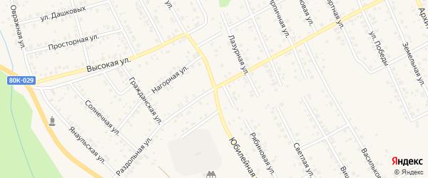 Юбилейная улица на карте Благовещенска с номерами домов