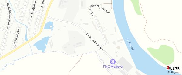 Площадь Лесокомбината на карте Мелеуза с номерами домов