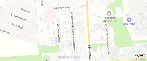 Улица Трудовые Резервы на карте Стерлитамака с номерами домов