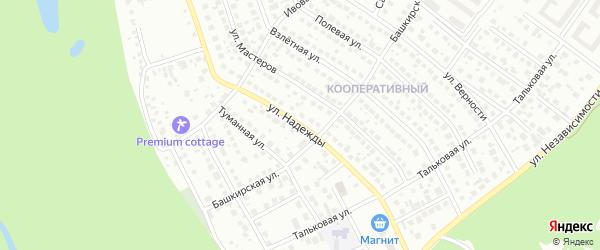 Улица Надежды на карте Уфы с номерами домов