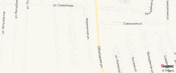 Моркинская улица на карте села Мишкино с номерами домов