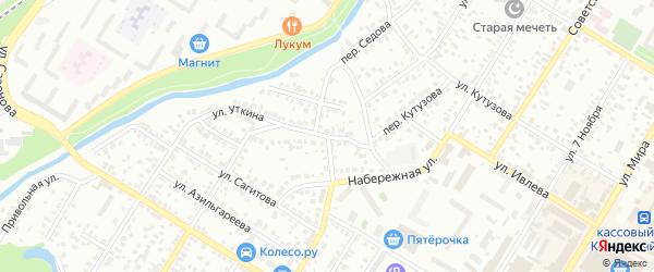 Стерлинский переулок на карте Стерлитамака с номерами домов
