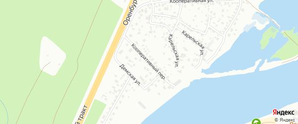 Кооперативный переулок на карте Уфы с номерами домов