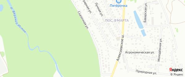 Сказочная улица на карте Уфы с номерами домов