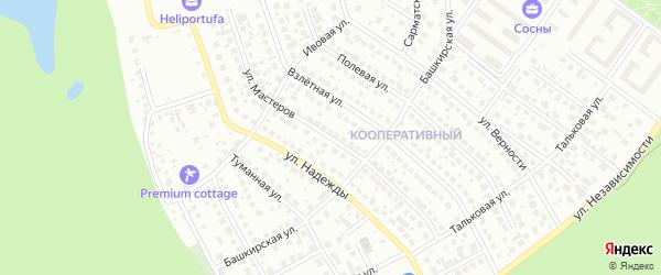Улица Мастеров на карте Уфы с номерами домов