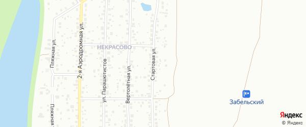 Стартовая улица на карте Уфы с номерами домов