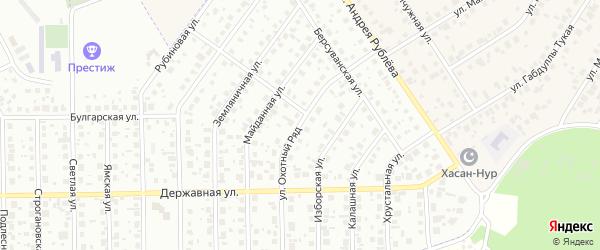 Улица Охотный ряд на карте Уфы с номерами домов