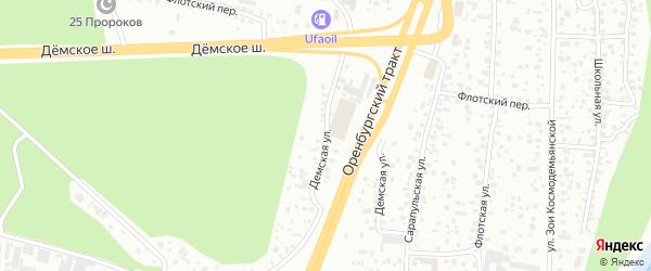Демская улица на карте Уфы с номерами домов
