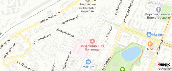 Лагерная улица на карте Уфы с номерами домов