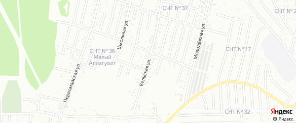 Бельская улица на карте Салавата с номерами домов