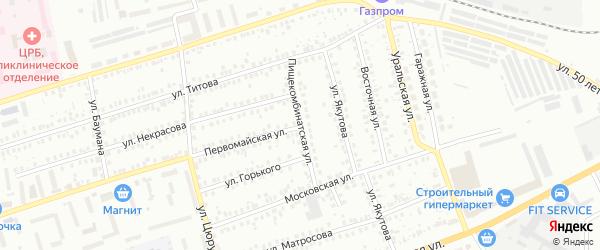 Пищекомбинатская улица на карте Мелеуза с номерами домов