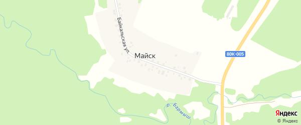 Байкальская улица на карте деревни Майска с номерами домов