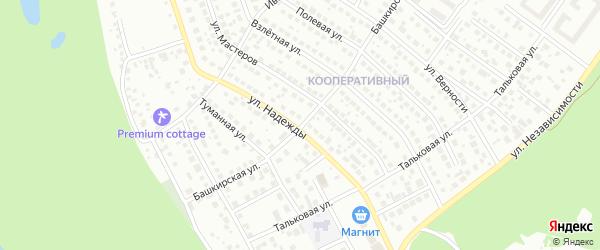 Башкирская улица на карте Уфы с номерами домов
