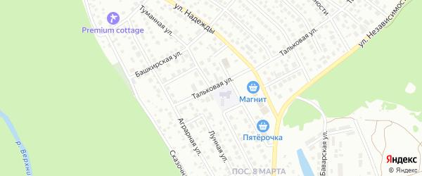 Туманная улица на карте Уфы с номерами домов