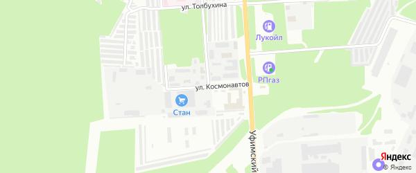 Улица Космонавтов на карте Стерлитамака с номерами домов