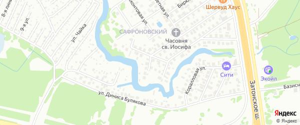 Конечная улица на карте Уфы с номерами домов